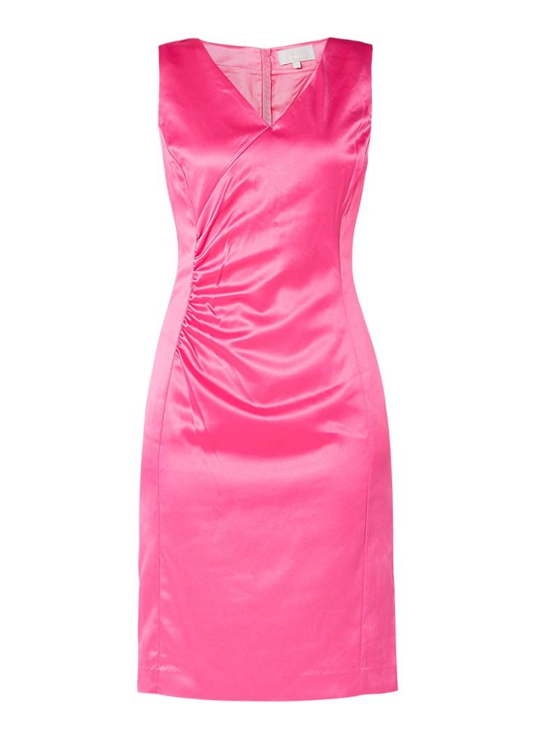 InWear Aliciana jurk van satijn fuchsia