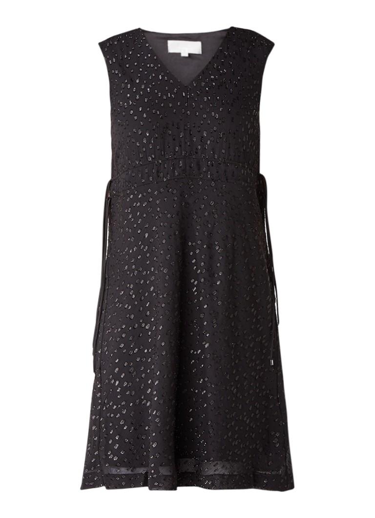 InWear Blitz jurk met trekkoord en glanzende details zwart