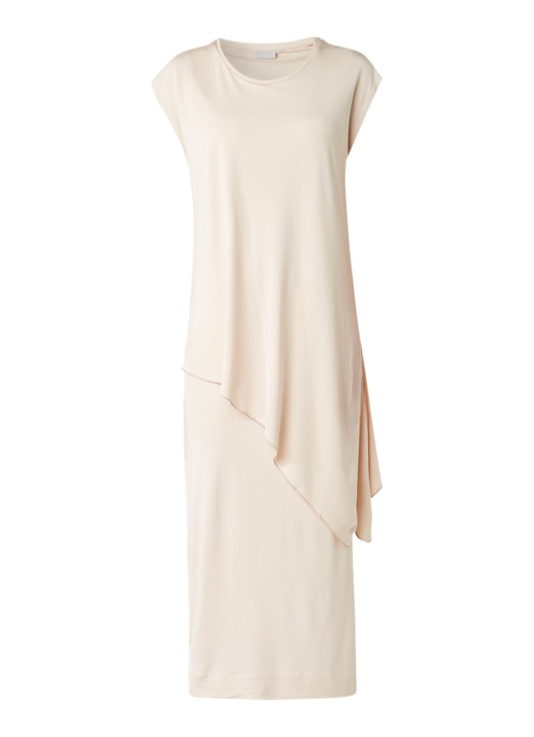 InWear Cate maxi-jurk met asymmetrische overlay naturel