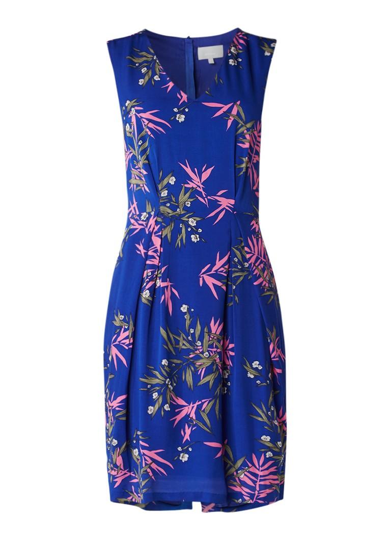InWear Bentley mouwloze midi-jurk met botanisch dessin royalblauw