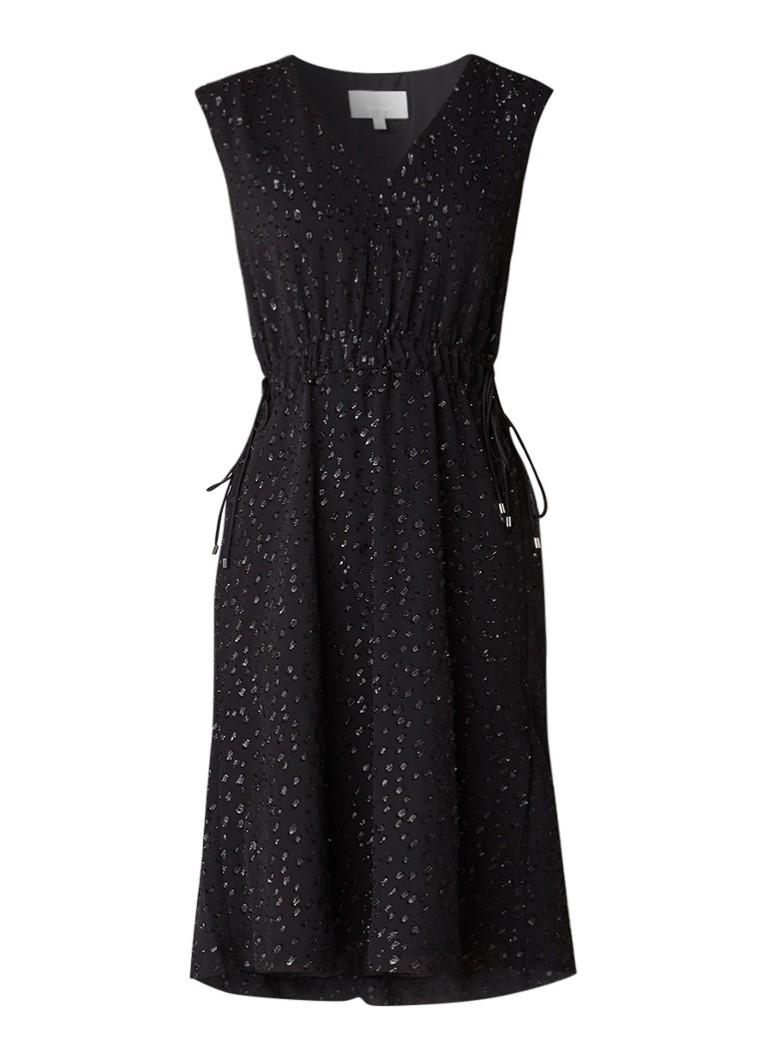 InWear Blitz A-liijn jurk met dubbele tunnelkoord zwart