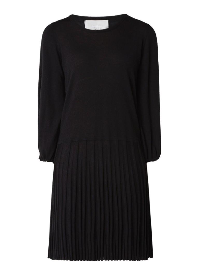InWear Neo A-lijn jurk van merinowol zwart
