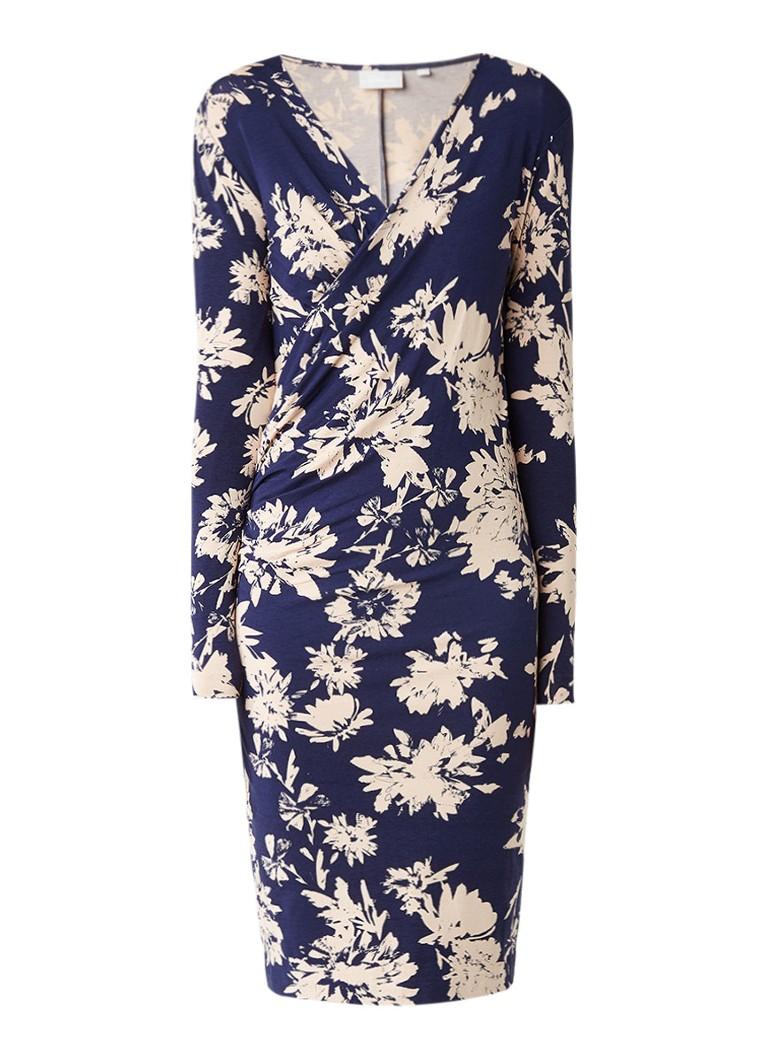 InWear Nata midi-jurk van jersey met bloemendessin donkerblauw