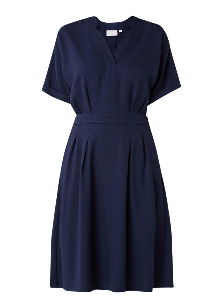 InWear Marguerite A-lijn jurk van crêpe donkerblauw