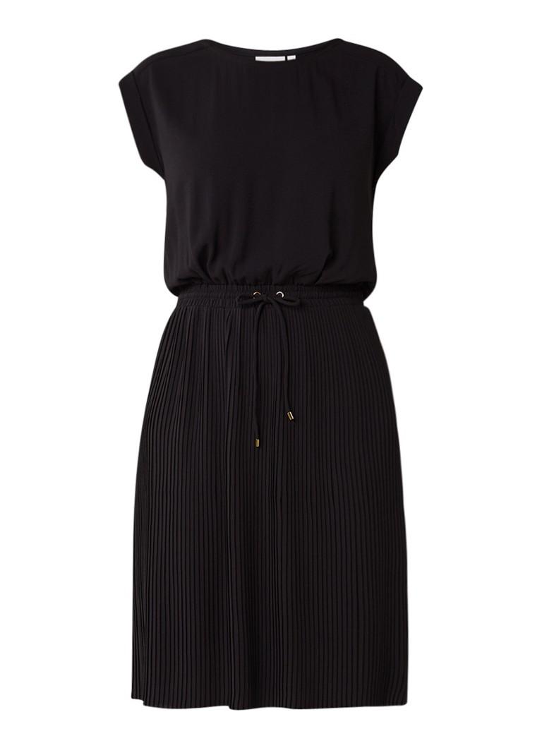 InWear Mariann getailleerde jurk met plissé zwart