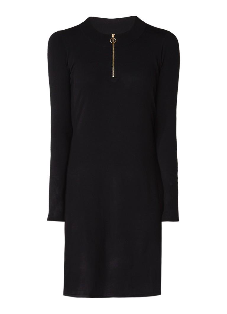 InWear Novella A-lijn jurk met ritsdetail zwart