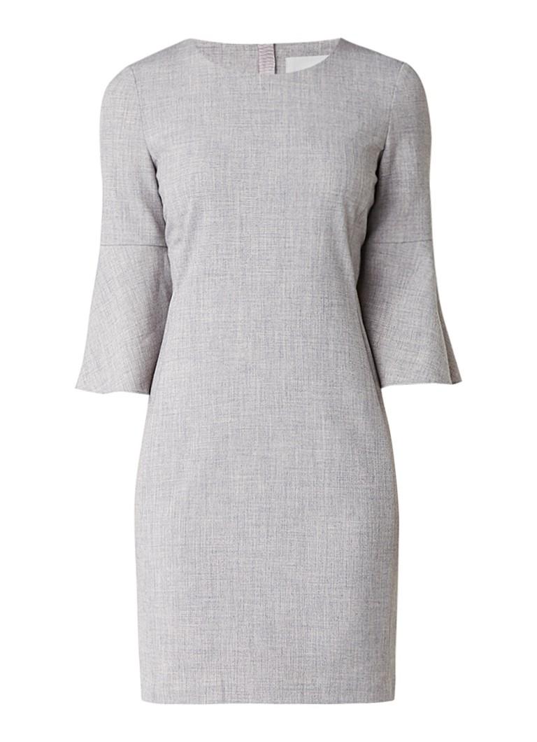 InWear Leika midi-jurk met uitlopende mouw grijsmele
