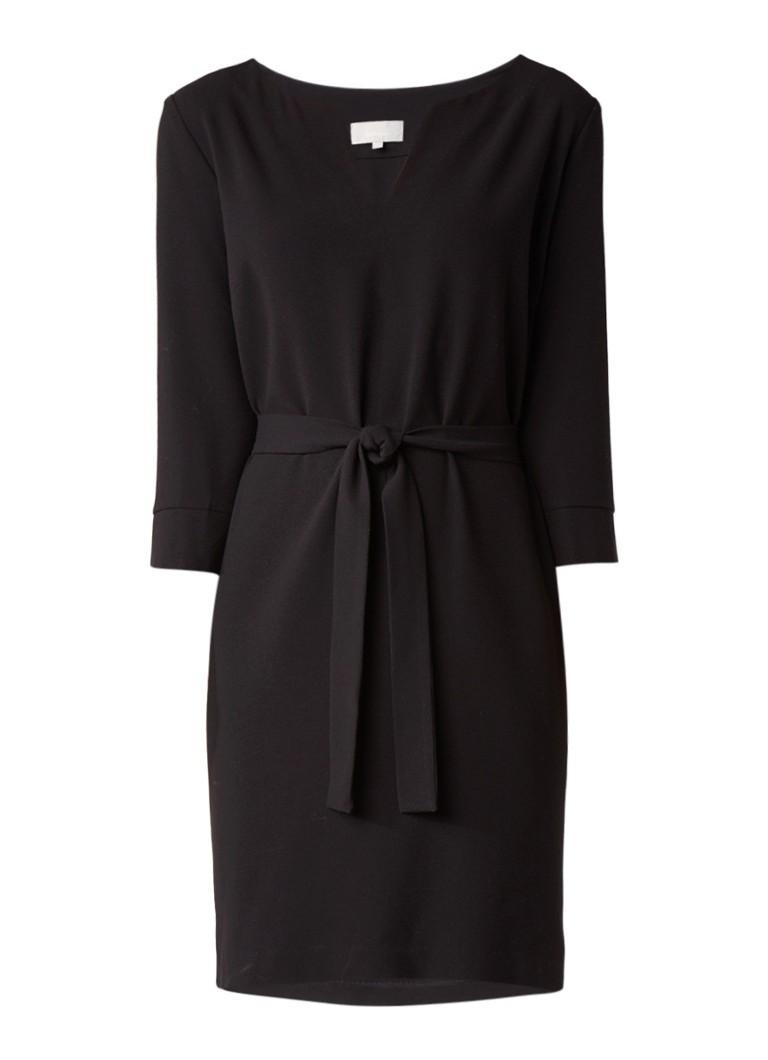 InWear Lali midi-jurk met strikceintuur zwart