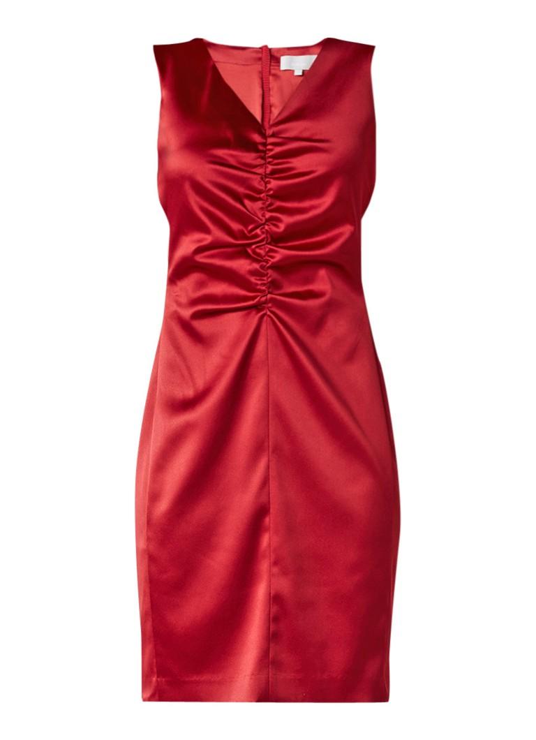 InWear Cairo jurk met plooidetail rood