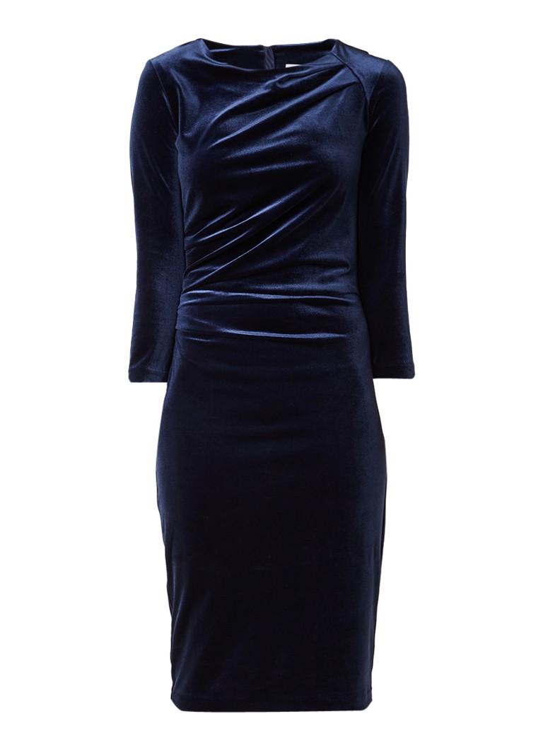 InWear Nisas midi-jurk van fluweel donkerblauw