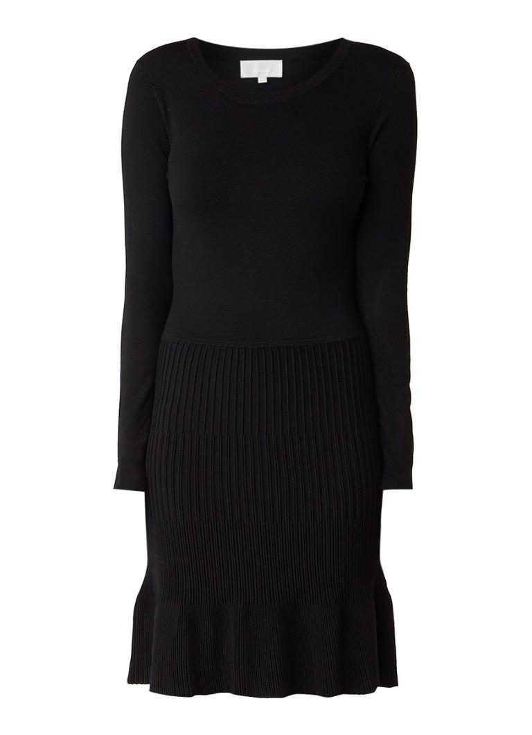 InWear Kaia fijngebreide A-lijn jurk zwart