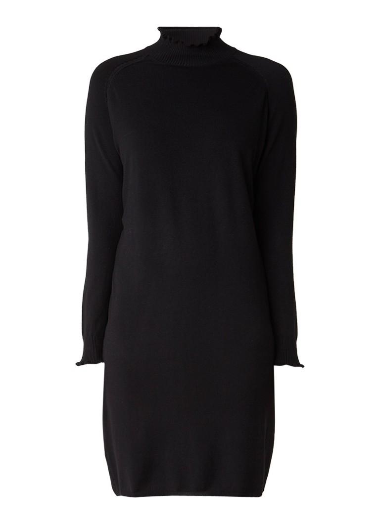 InWear Kato fijngebreide trui-jurk met col zwart