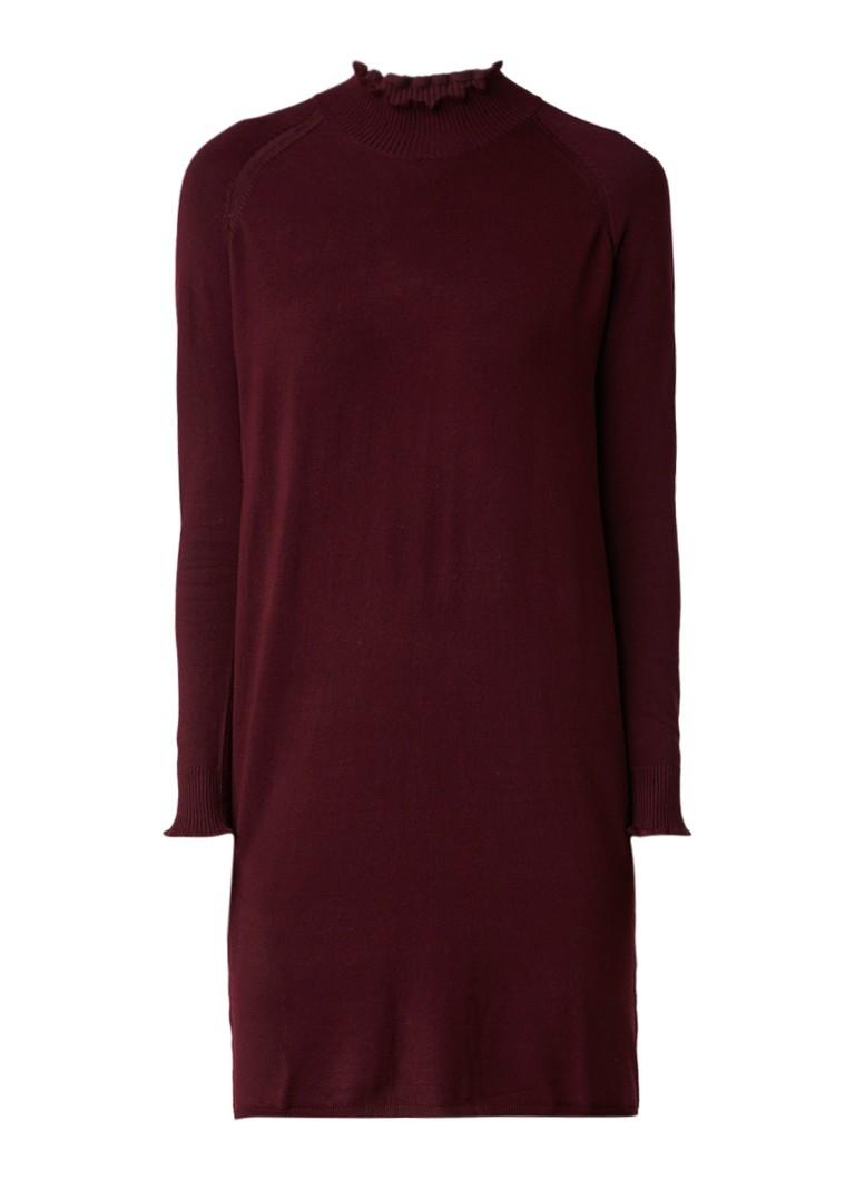 InWear Kato fijngebreide trui-jurk met subtiele col aubergine