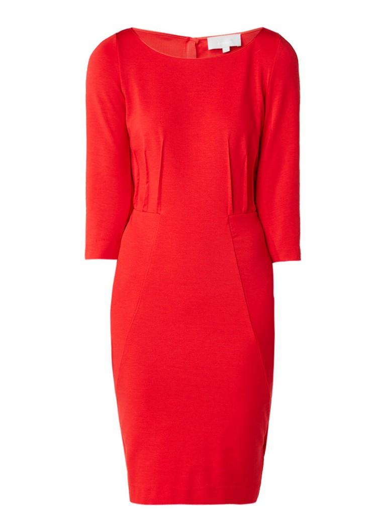 InWear Bagulio midi-jurk met plooidetail rood