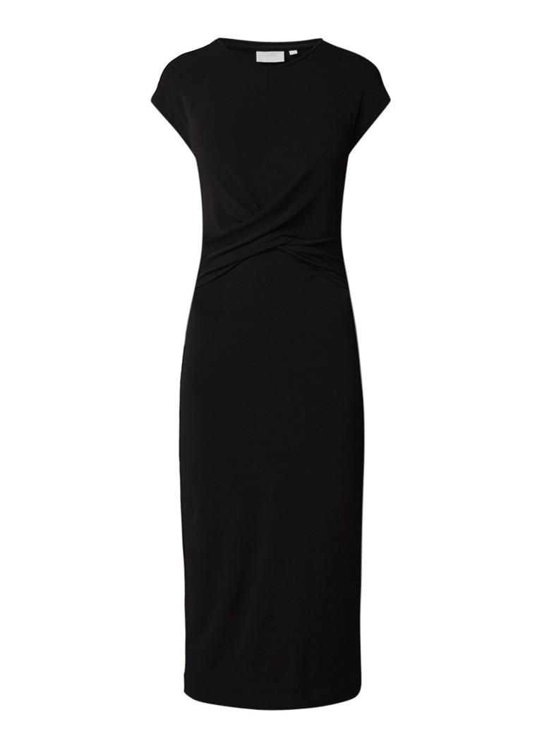 InWear Azni midi-jurk met gedraaid detail zwart