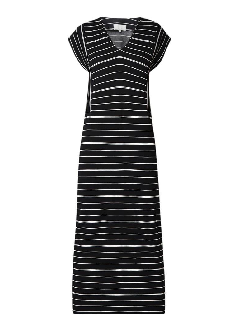 InWear Ashlee maxi-jurk met streepdessin zwart