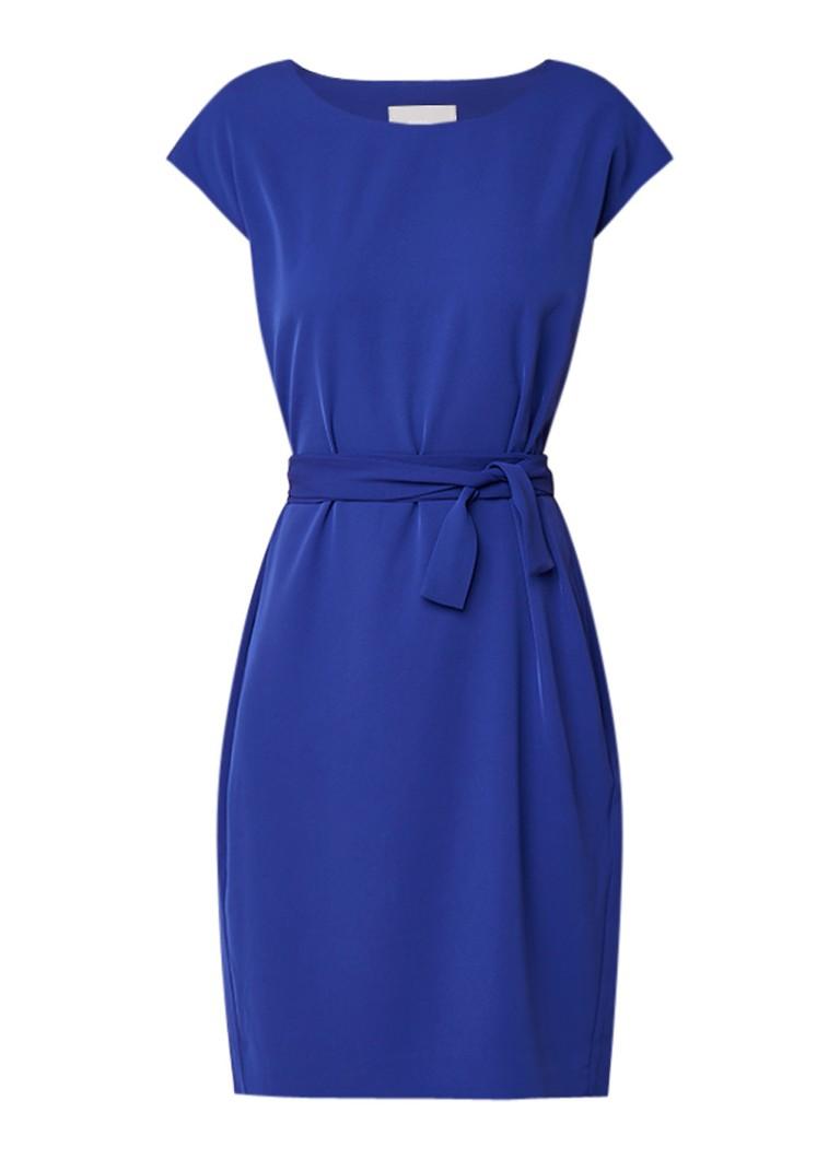 InWear Saffron tuniekjurk met ceintuur kobaltblauw