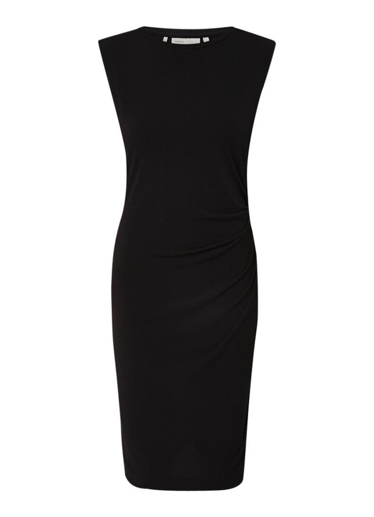 InWear Florette midi-jurk met gesmockt detail en stretch zwart