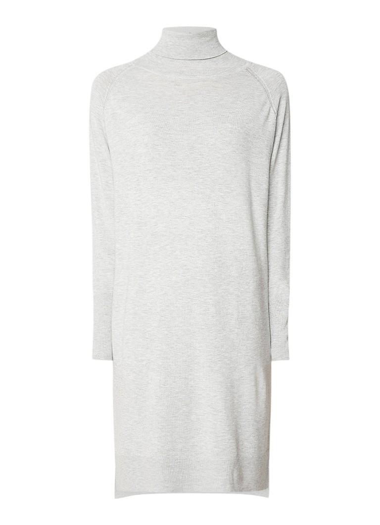 InWear Freda fijngebreide coltrui-jurk lichtgrijs