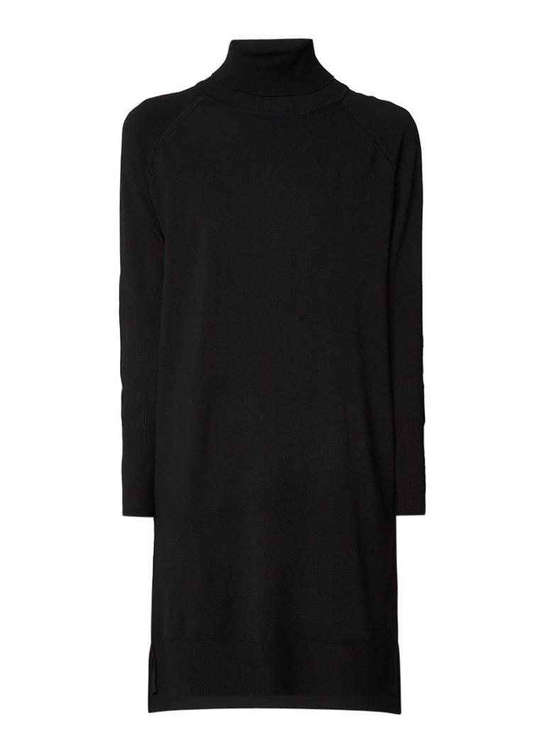 InWear Freda fijngebreide coltrui-jurk zwart
