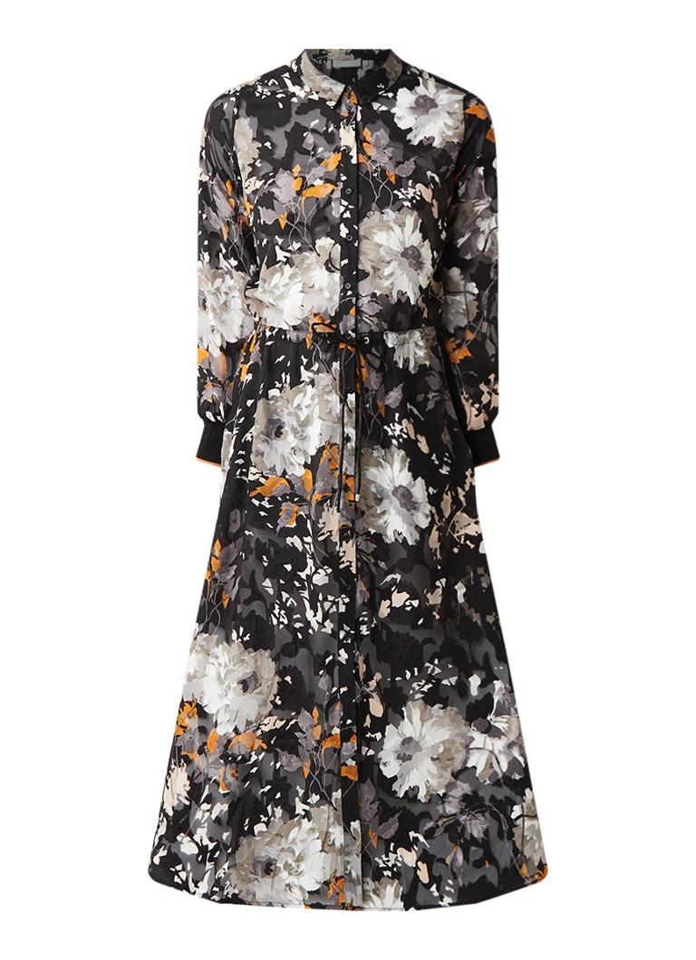 InWear Villa maxi blousejurk met tunnelkoord zwart