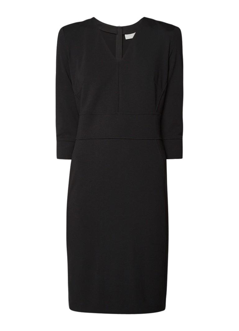 InWear Gustava jurk van jersey met V-hals zwart