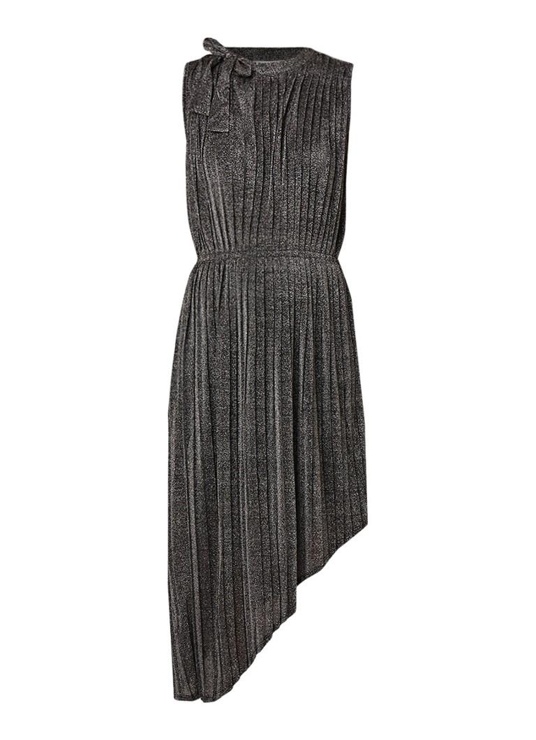 InWear Mercer mouwloze midi-jurk met asymmetrische zoom zilver
