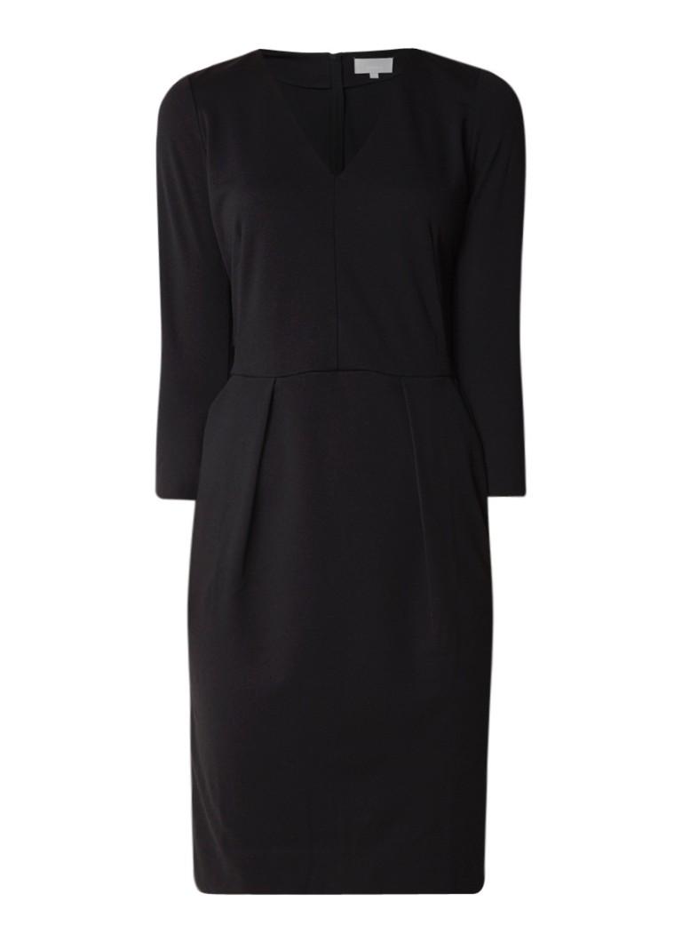 InWear Nira midi-jurk met V-hals en stretch zwart