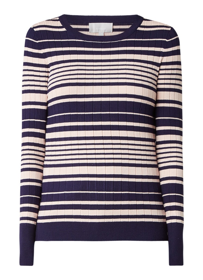 InWear Yetta gestreepte ribgebreide pullover blauw