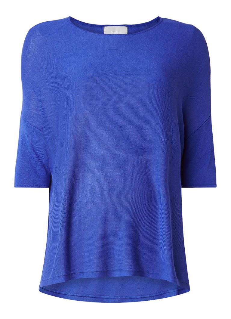 InWear Yoli oversized pullover met vleermuismouw blauw