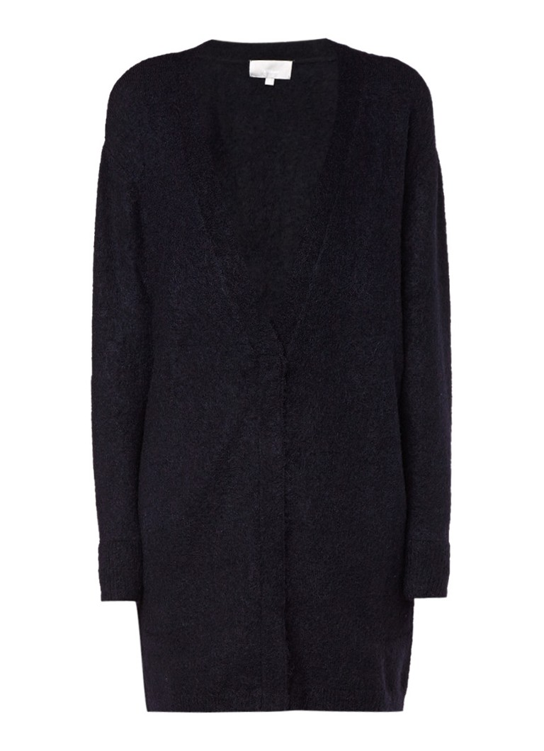 InWear Panula vest in wolblend met mohair blauw