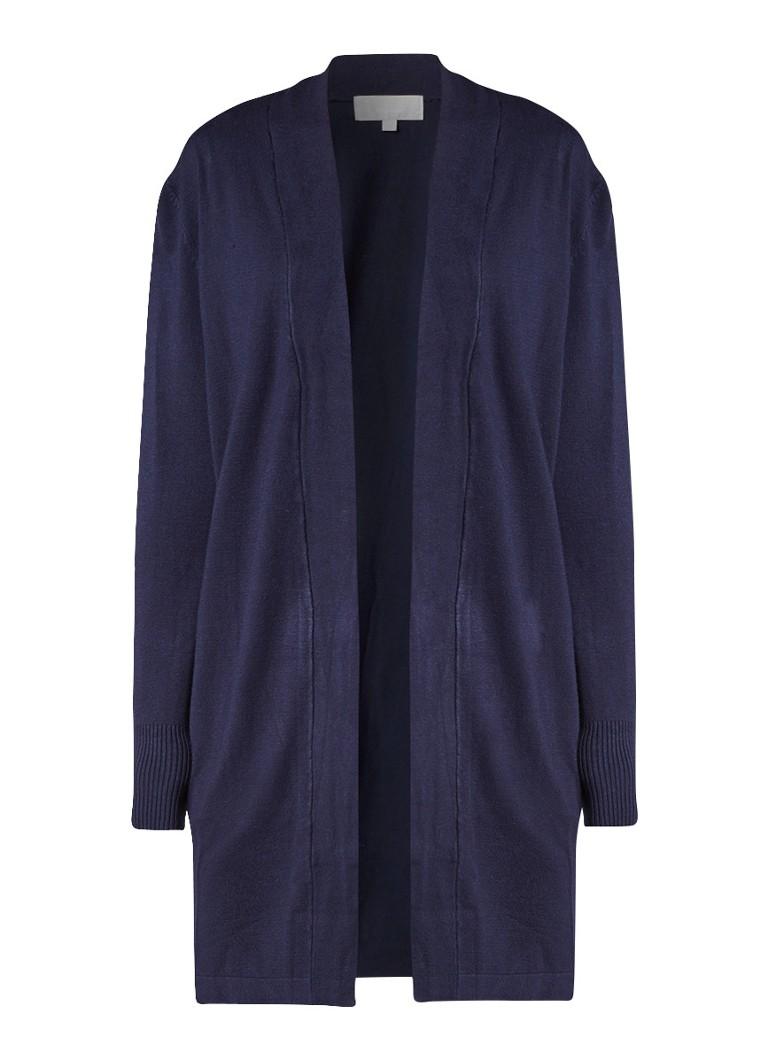 InWear Renee middellang vest met steekzakken blauw