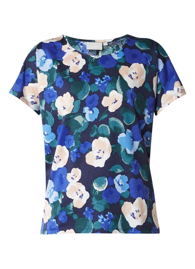 InWear Yoki T-shirt met bloemendessin blauw