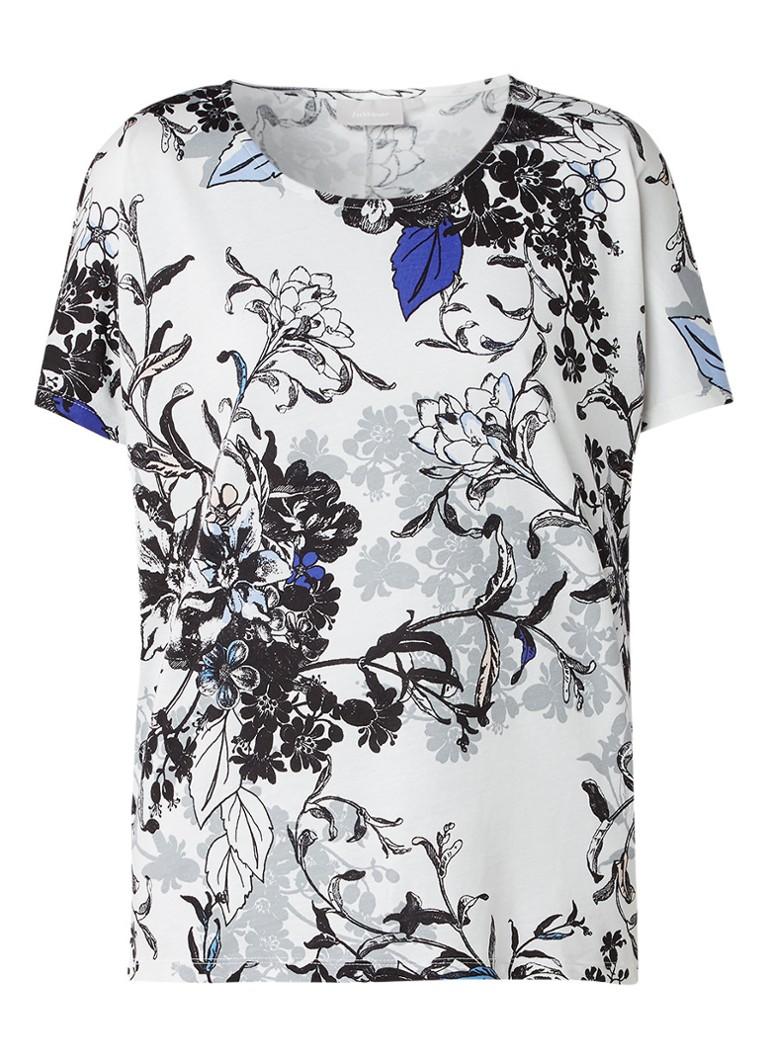 InWear Top met vleermuismouwen en bloemenprint blauw