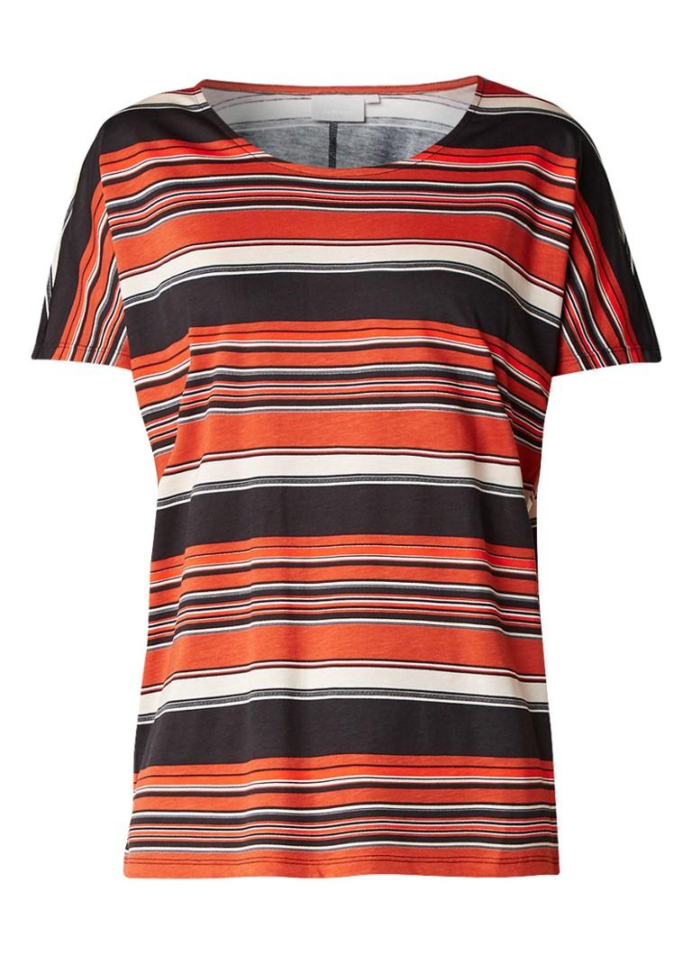 InWear Yoki T-shirt met streepdessin blauw
