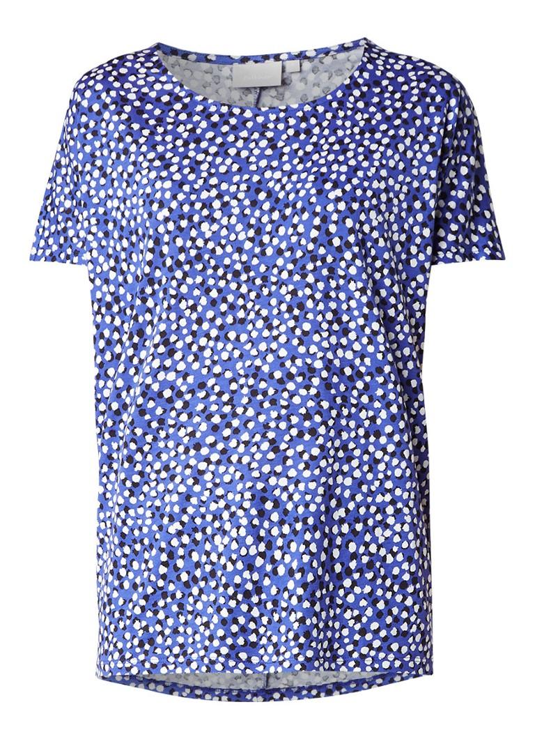 InWear Yoki T-shirt met dessin blauw