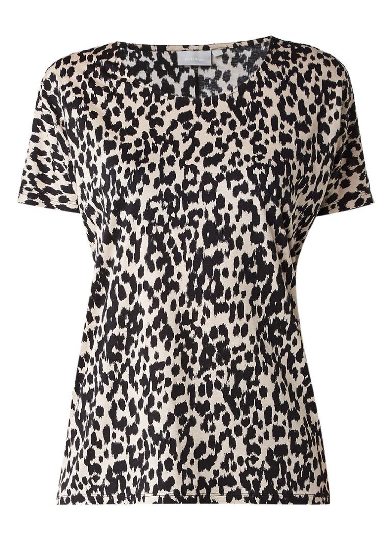 InWear Yoki T-shirt met luipaardprint blauw