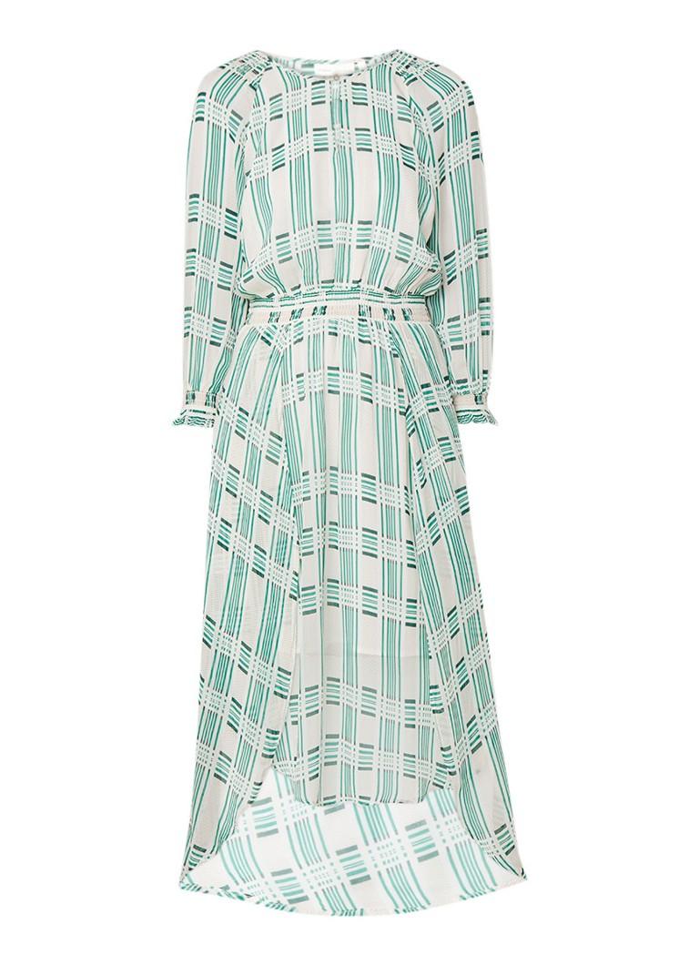 InWear Hayden maxi-jurk met ruitdessin lichtgroen