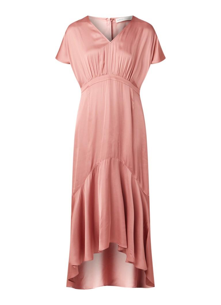 InWear Zilli maxi-jurk van satijn roze