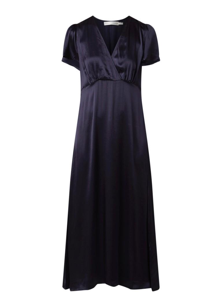 InWear Zintra maxi-jurk van satijn donkerblauw