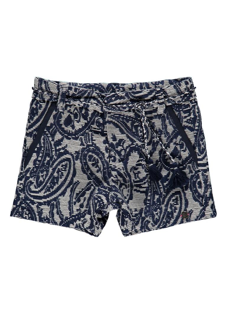 IKKS Bermuda geribde shorts met