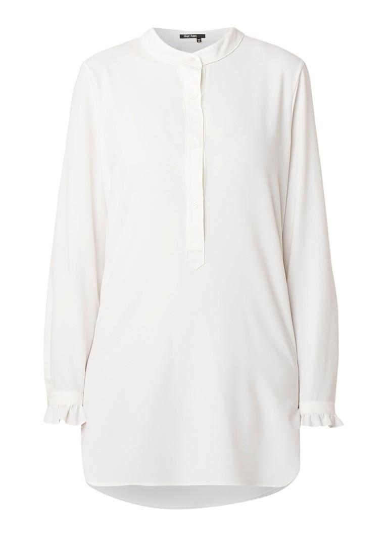 Marc Aurel Longline blousetop van crepe