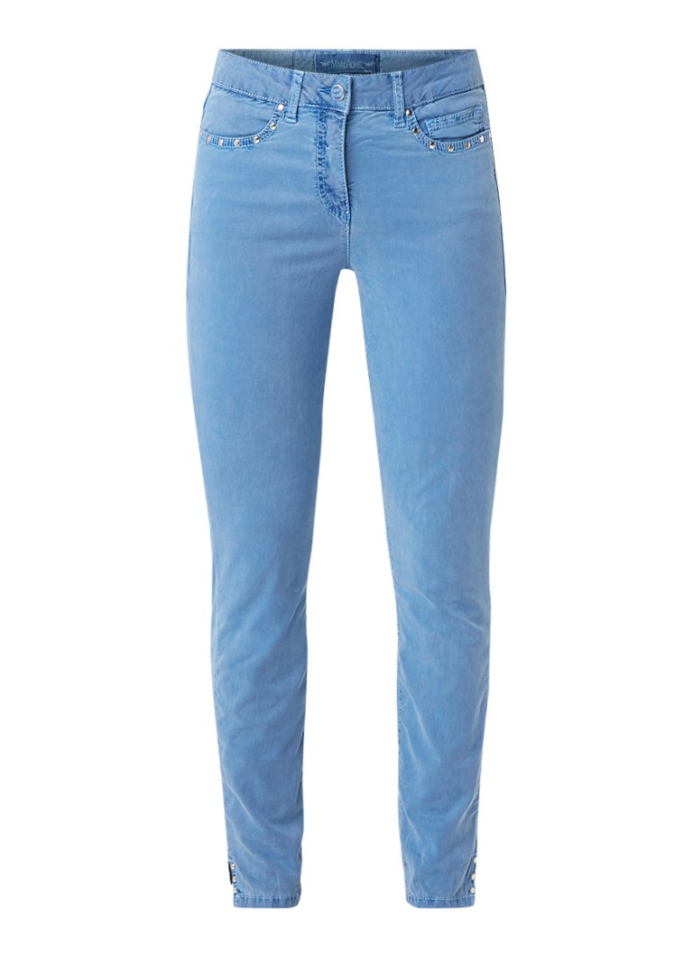 Marc Aurel High rise skinny fit jeans met studs