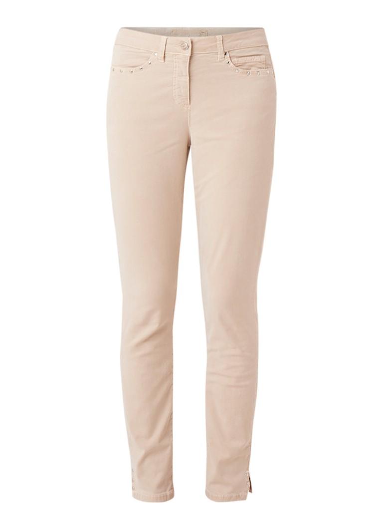 Marc Aurel High rise cropped slim fit jeans met studs