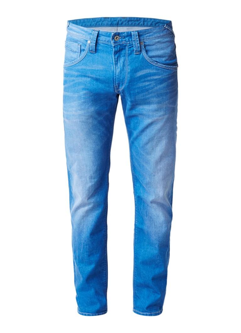 Pepe Jeans Zinc mid rise slim fit jeans met faded look