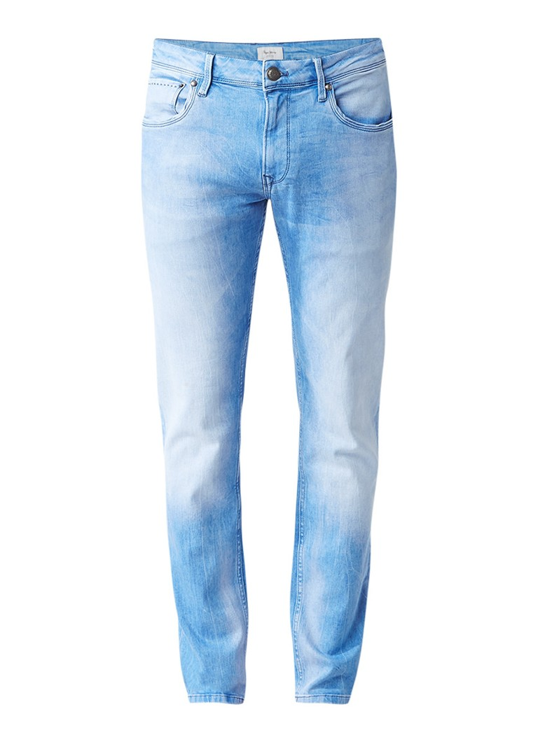 Pepe Jeans Slim fit jeans met stretch in lichte wassing