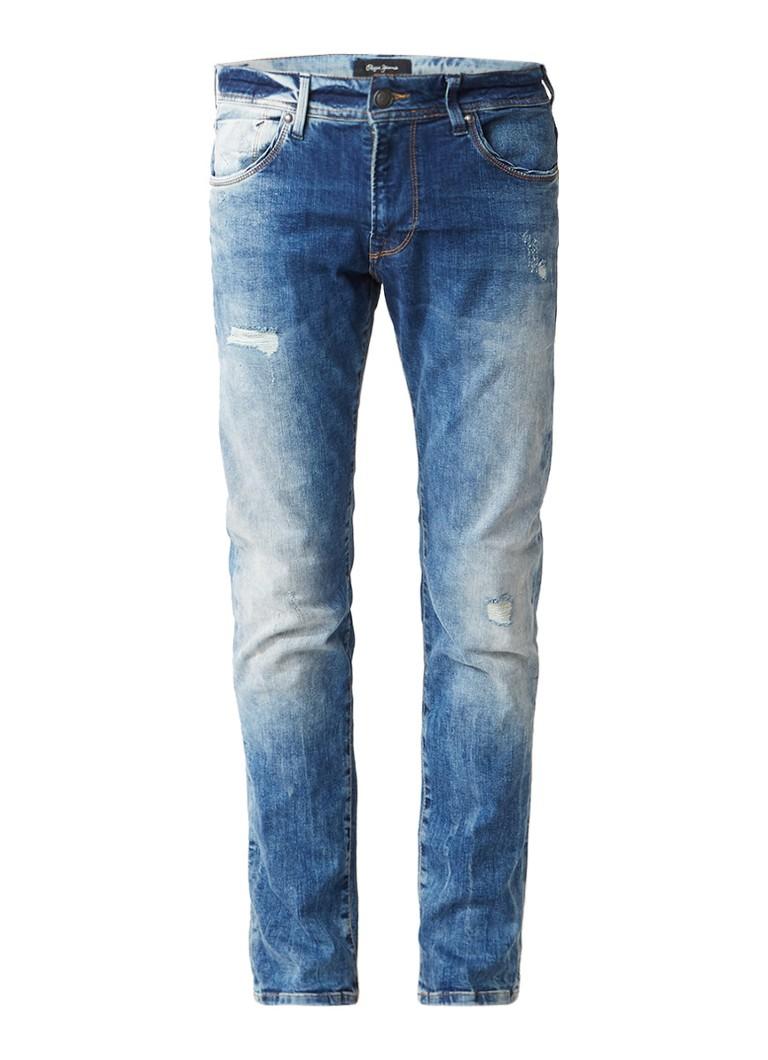 Pepe Jeans Zinc slim fit jeans met gedragen look