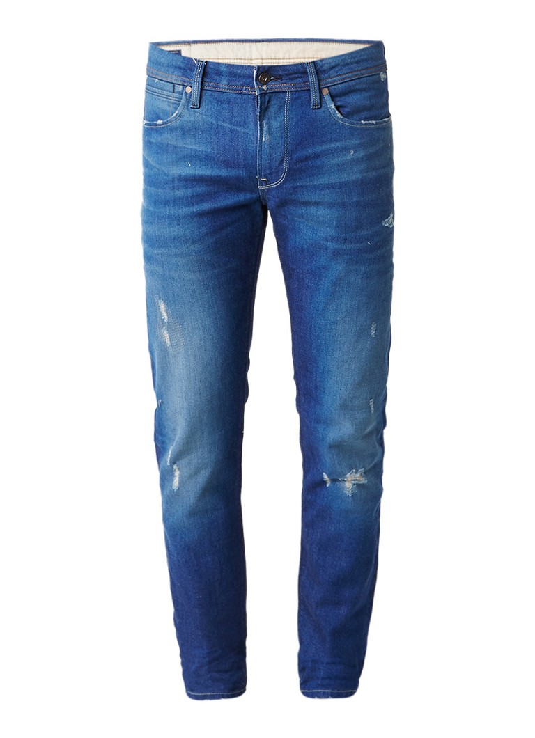 Pepe Jeans Hatch mid rise slim fit jeans met destroyed look