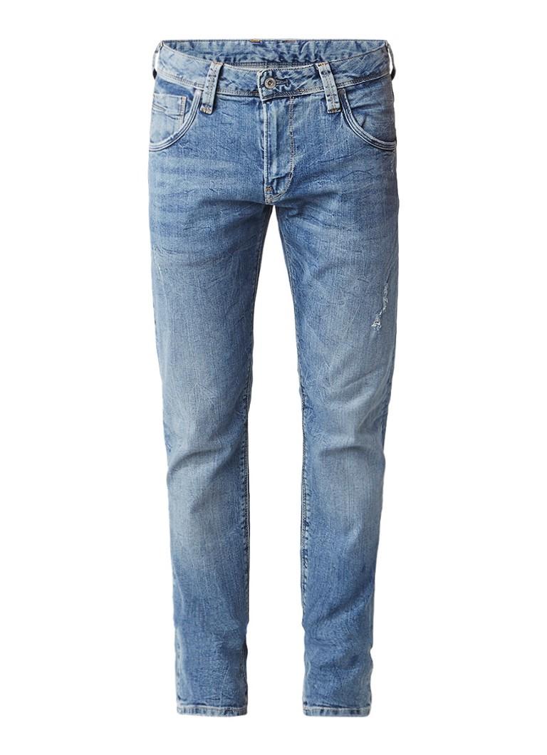 Pepe Jeans Zinc slim fit jeans met faded look