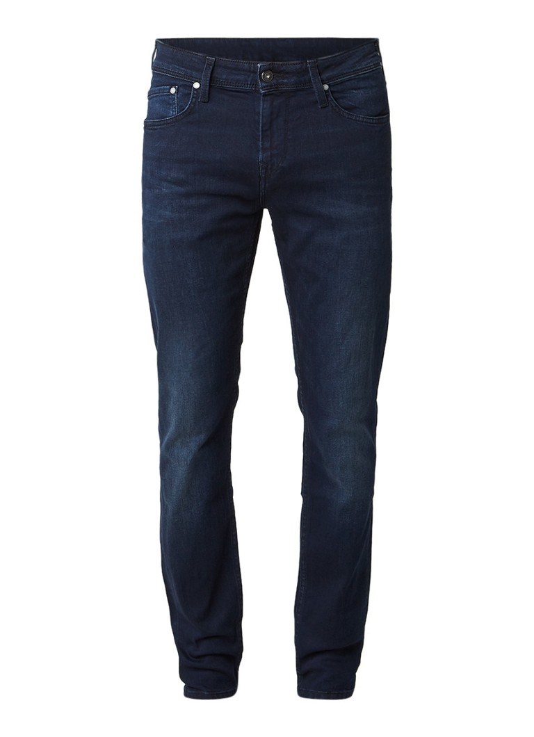 Pepe Jeans Finsbury mid rise slim fit jeans in donkere wassing